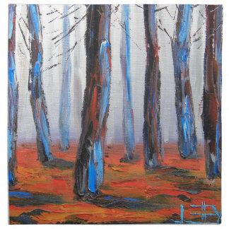 レッドウッドの元の絵画、カリフォルニア木 ナプキンクロス