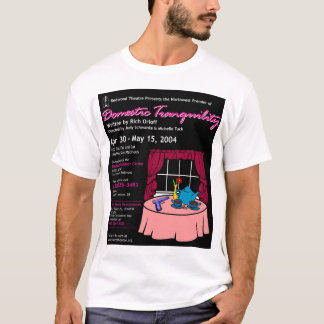 レッドウッドの劇場の国内静けさポスター Tシャツ