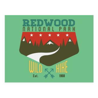 レッドウッドの国立公園 ポストカード