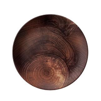 レッドウッドの木製の穀物の磁器皿 磁器プレート