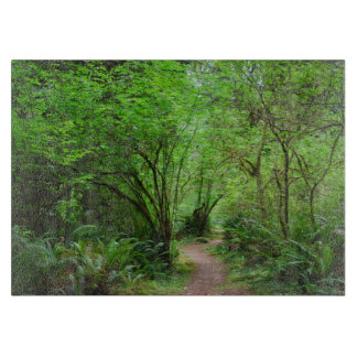 レッドウッドの森林の道 カッティングボード
