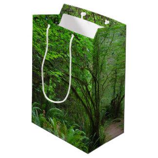 レッドウッドの森林の道 ミディアムペーパーバッグ