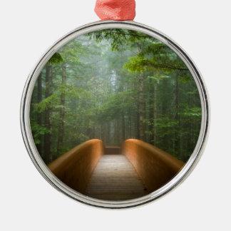 レッドウッドの森林橋 メタルオーナメント