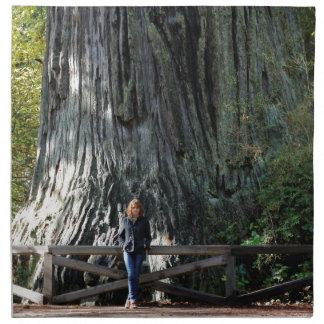 レッドウッドの森林 ナプキンクロス