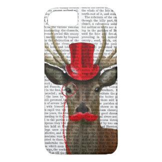 レッドトップの帽子および口ひげを持つシカ iPhone 8/7ケース