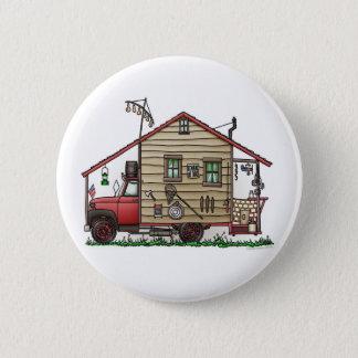 レッドネックの田舎者のキャンピングカーボタン 5.7CM 丸型バッジ