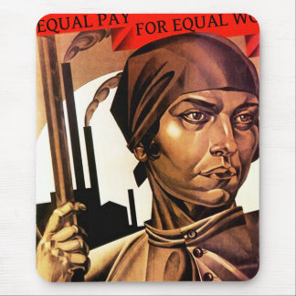 レディースは労働力の平等の公平な支払マウスパッドを訂正します マウスパッド