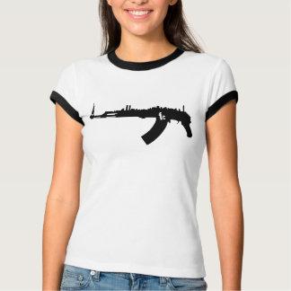レディースレトロNYカラシニコフ自動小銃のTシャツ Tシャツ