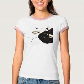 レディースヴィンテージのロカビリーPinの上りのスタイルのガーリーなワイシャツ Tシャツ