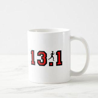 レディース半分のマラソン コーヒーマグカップ