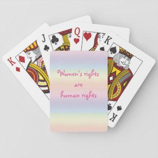 レディース権利は人権のピンクの虹です トランプ