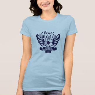 レディース淡いブルーの天使CHSAのサッカーのTシャツ2015年 Tシャツ