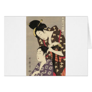 レディース理髪のUtamaro Yuyudo Ukiyo-eの芸術 カード