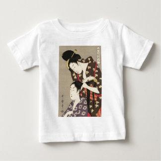 レディース理髪のUtamaro Yuyudo Ukiyo-eの芸術 ベビーTシャツ