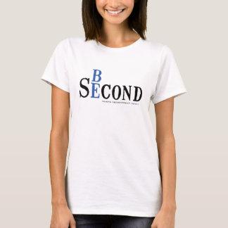 レディース白のワイシャツ Tシャツ