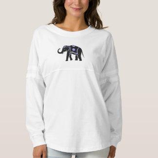 レディース象の長袖のワイシャツ スピリットジャージー