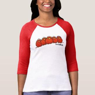 レディース3/4枚の袖のRaglanのTシャツ Tシャツ