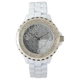 レディース・ウォッチ- Quilterかパッチワーク-針か糸 腕時計