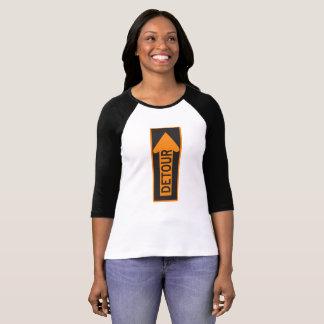 レディースBella+キャンバス3/4の袖の回り道のTシャツ Tシャツ