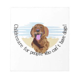 レトリーバー犬 ノートパッド
