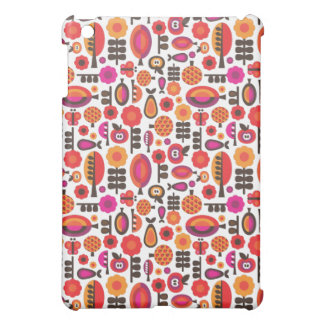 レトロによってはフルーツのりんごパターンipadの箱が開花します iPad miniケース
