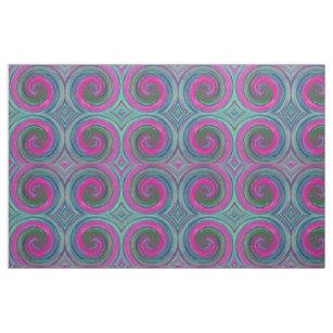 レトロによって着色されるねじれの抽象美術#12 ファブリック