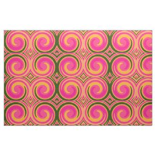 レトロによって着色されるねじれの抽象美術#14 ファブリック