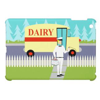 レトロのいなか町の牛乳配達人のiPad Miniケース iPad Mini Case