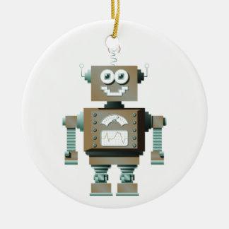 レトロのおもちゃのロボットオーナメント(反対) セラミックオーナメント