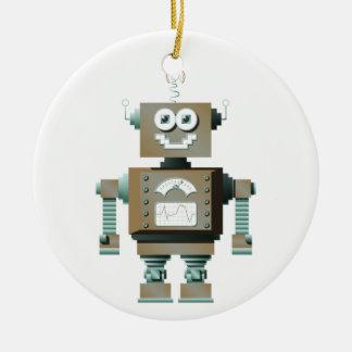 レトロのおもちゃのロボットオーナメント(Lt) セラミックオーナメント