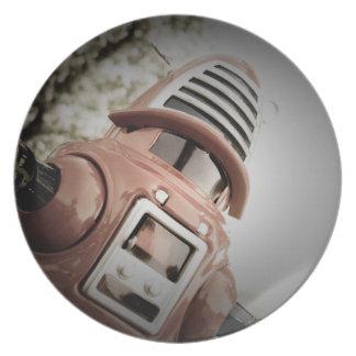 レトロのおもちゃのRobbyのロボット02プレート プレート