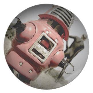 レトロのおもちゃのRobbyのロボット04プレート プレート