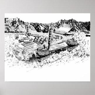 レトロのおもちゃGTO/Armouredタンク ポスター