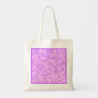 レトロのしぶきのラベンダーの紫色のパーティの記念品のギフト トートバッグ