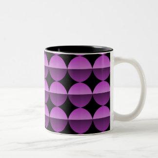 レトロのしゃれているなマグ、鮮やかなプラム完全さ ツートーンマグカップ