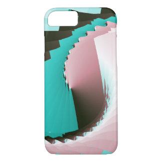 レトロのねじれのピンクの青 iPhone 8/7ケース