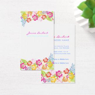 レトロのはっきりしたな熱帯flowers/DIYの背景 名刺