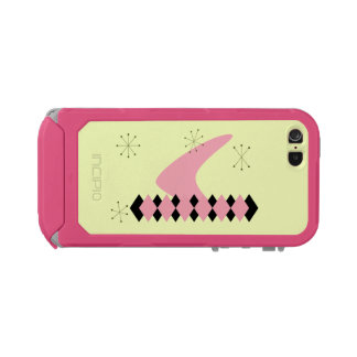 レトロのアーガイル柄のな世紀半ばのモダンなiPhone 5の場合 ウォータープルーフiPhone SE/5/5sケース