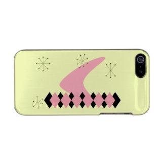 レトロのアーガイル柄のな世紀半ばのモダンなiPhone 5の場合 メタリックiPhone SE/5/5sケース