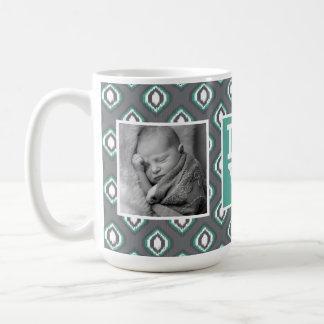 レトロのイカット写真との種族パターン|愛 コーヒーマグカップ