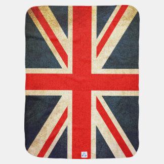 レトロのイギリスの英国国旗の旗のベビーブランケット ベビー ブランケット