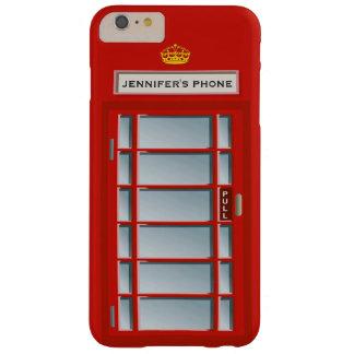 レトロのイギリスの電話ボックス赤いパターンモノグラム BARELY THERE iPhone 6 PLUS ケース