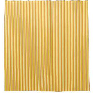 レトロのオレンジのストライプのシャワー・カーテン シャワーカーテン
