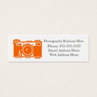 レトロのオレンジカラーフィルムのカメラの名刺 スキニー名刺