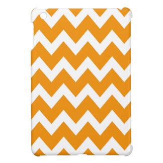 レトロのオレンジジグザグパターン iPad MINIカバー