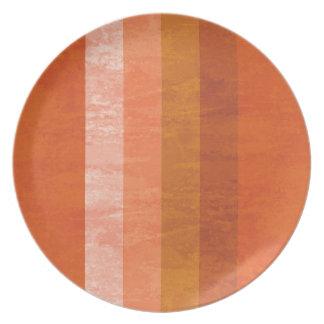 レトロのオレンジストライプのなプレート プレート