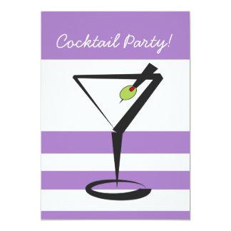 レトロのカクテルのパーティの招待状 12.7 X 17.8 インビテーションカード
