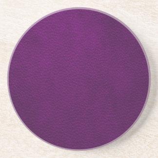 レトロのカスタムな紫色の革 コースター