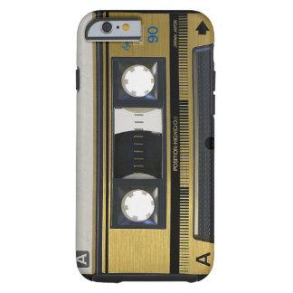 レトロのカセットテープのiPhone6ケースの皮の80年代の投球 ケース