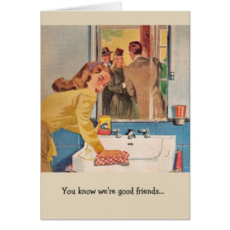 レトロのカップル-速くきれいにして下さい、 カード
